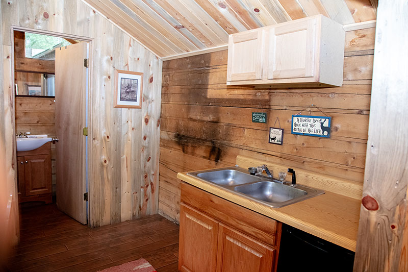 Wapiti Cabin Kitchen